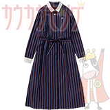 FRED PERRYストライプシャツドレス